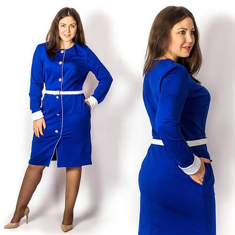 Платье 15573, электрик, большого размера, фото 2