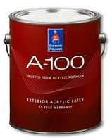 Краска Sherwin Williams A-100 Exterior Latex Flat(А-100 фасадная)- 3,66л, фасадная акрил-латексная матовая
