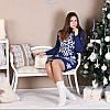 Вязаное платье с орнаментом - Снежинка, фото 2