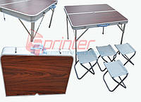 Набор складной мебели (стол + 4 стула) 86 х 80,5 х 69 см