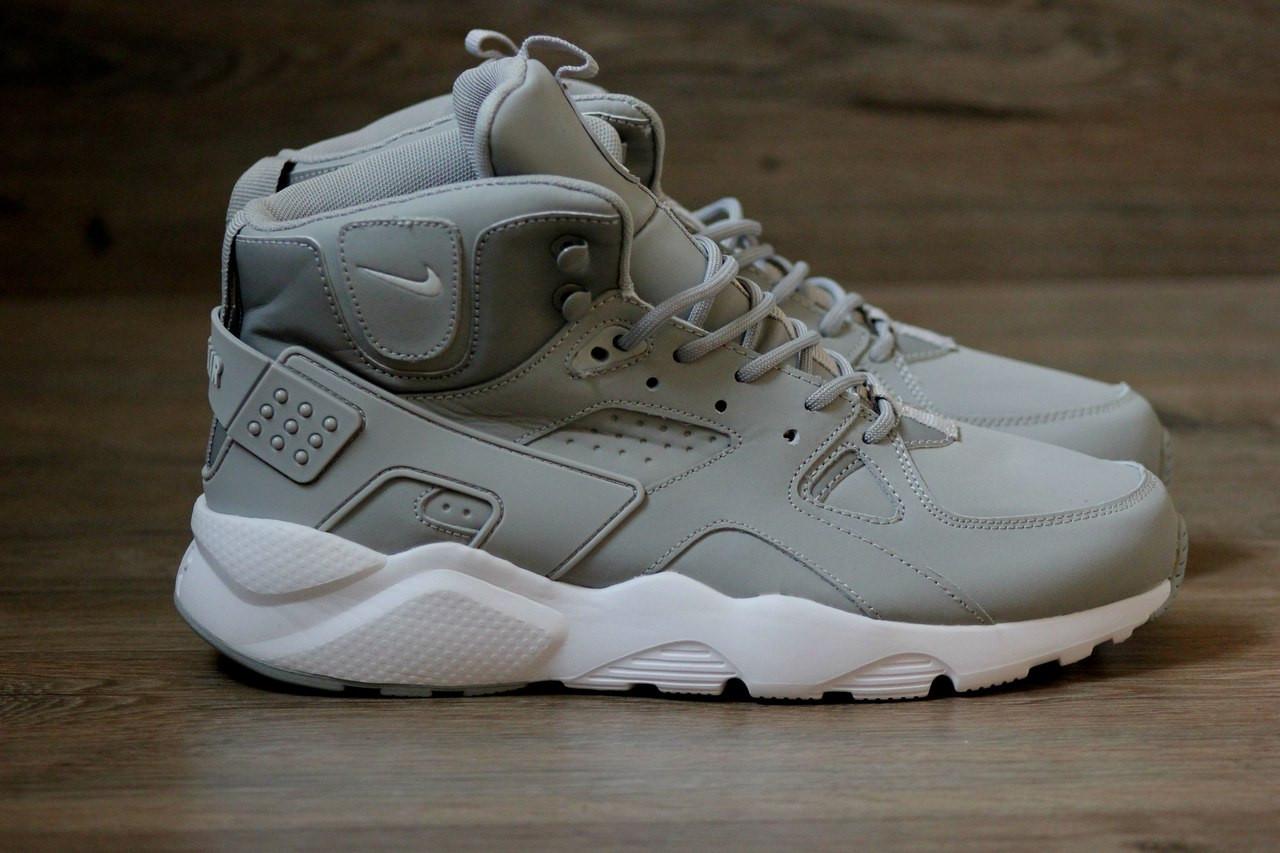 Мужские зимние кроссовки Nike Huarache серые топ реплика - Интернет-магазин  обуви и одежды KedON 01b5cb7a53248
