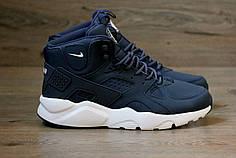 Мужские кроссовки Nike Huarache Winter темно-синие топ реплика