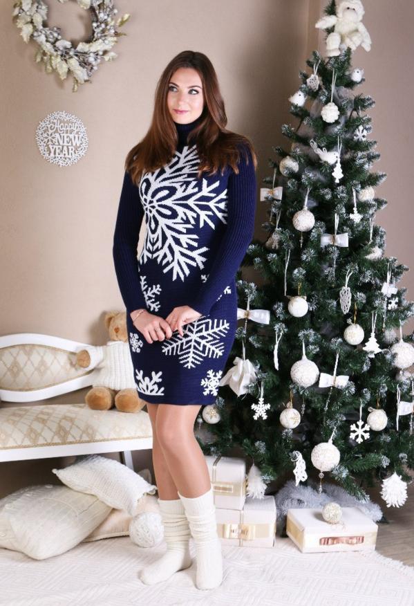 вязаное платье снежинка цена 510 грн купить в хмельницком