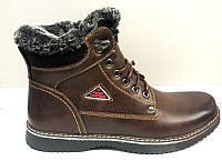 Ботинки мужские зимние Украина кожаные коричневые Uk0092