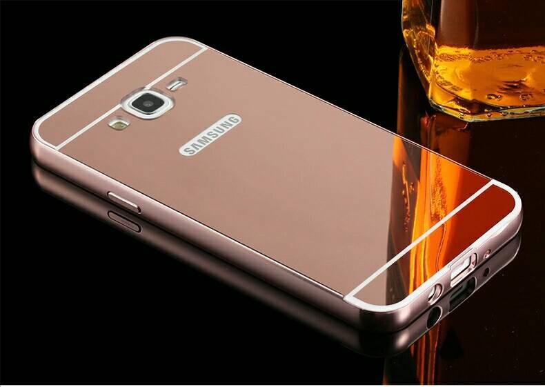 Чехол для Galaxy J7 2015 / Samsung J700 зеркальный розовый