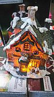 Рождественский домик под елку с освещением