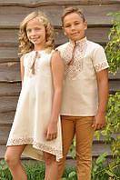 Вышиванка для мальчика и вышитое платье для девочки ДМ16к-246 и ДП03-246