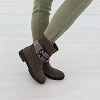 Ботинки из натуральной замши капучино, фото 1