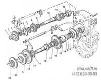 220-1701070 Вал промежуточный в сб. КПП МТЗ-320 (пр-во БЗТДиА)