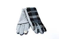 Женские перчатки серые трикотаж  S, M, L