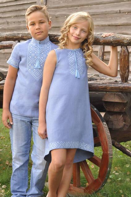 Комплект детских вышиванок ДМ16к-273 и ДП03-273, фото 3
