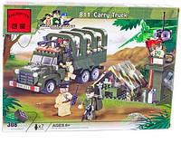 """Конструктор Brick 811 """"Военный грузовик"""", Конструктор Брик"""