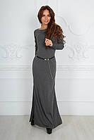 Платье женское джерси теплое пояс