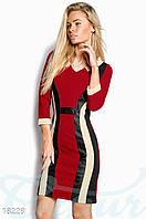 Платье которое стройнит. Цвет красно-черный.