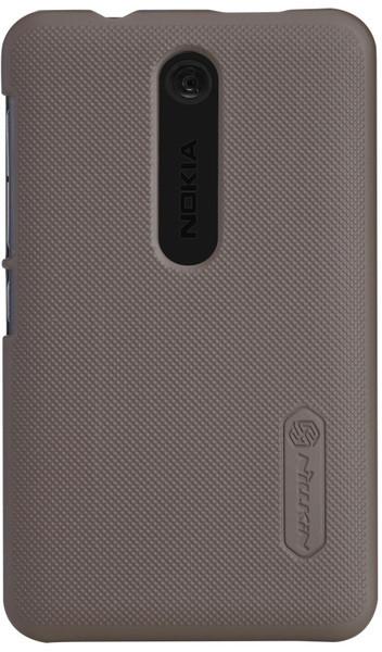 Чехол NILLKIN Nokia Asha 501 (корич.) + защитная пленка