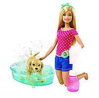 Кукла Barbie  веселое купание щенка