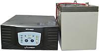 Комплект резервного питания ИБП Luxeon UPS-500ZY + АКБ Vimar BG110-12 110Ah для 8-13ч работы газового котла, фото 1