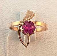 Кольцо золотое с рубином 583 проба,СССР