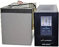 Комплект резервного питания ИБП Luxeon UPS-500ZX + АКБ Vimar BG110-12 110Ah для 8-13ч работы газового котла, фото 1