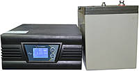 Комплект резервного питания ИБП Luxeon UPS-500ZD + АКБ Vimar BG110-12 110Ah для 8-13ч работы газового котла