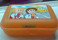 Контейнер универсальный-бутербродница  оранжевый, фото 1