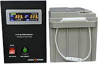 Комплект резервного питания ИБП Logicpower LPY-B-PSW-500 + АКБ LP-MG80 для 6-9ч работы газового котла, фото 1