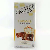 Шоколад Cachet (Кашет) молочный с карамелью и солью Бельгия 100г