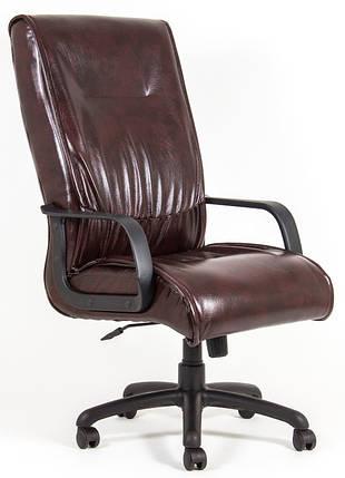 Кресло Мюнхен Пластик механизм Tilt кожзаменитель Титан Бордо (Richman ТМ), фото 2