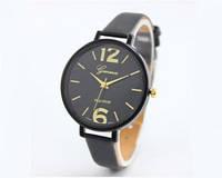 Женские часы черного цвета Geneva (185)