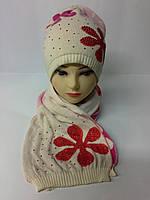 Стильный женский набор шапка и шарф