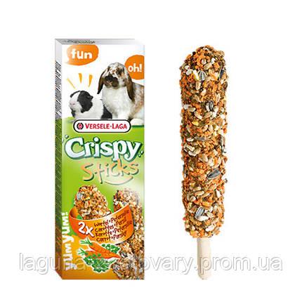 Versele-Laga Crispy Sticks МОРКОВКА УКРОП зерновая смесь лакомство для кроликов и морских свинок, фото 2