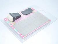 Набор для стемпинга в блистере, штамп и скрапер + большая пластина