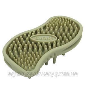Safari MASSAGER массажная щетка для собак и котов, резина, зеленая