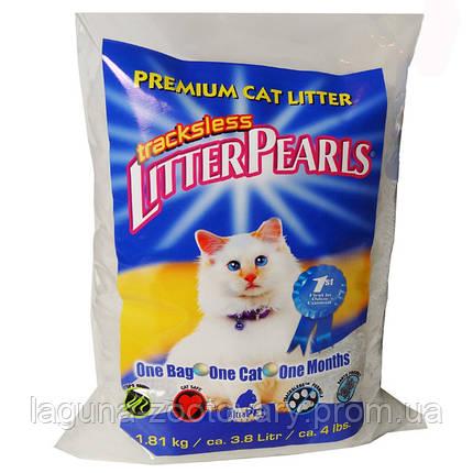 Litter Pearls ТРАКЛЕС (TrackLess) кварцевый наполнитель для туалетов котов 1.81кг/3.8л, фото 2