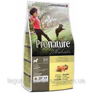 Pronature Holistic  сухой холистик корм для щенков всех пород 13.6кг с курицей и бататом