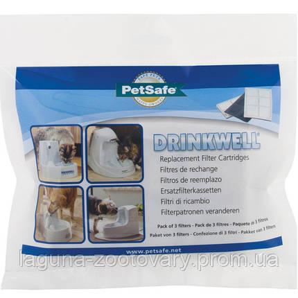 PetSafe Drinkwell FILTER ПЕТСЕЙФ ДРИНКВЕЛЛ сменный угольный фильтр в фонтанчик поилку на 1,2л и 5л, в комплекте 3 шт., фото 2
