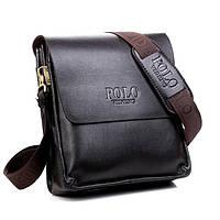 Мужская сумка Polo Videng кожаная (черная)