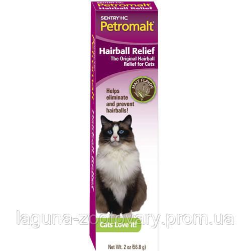 SENTRY Petromalt Hairball Relief СЕНТРИ ПЕТРОМАЛЬТ ВЫВЕДЕНИЕ ШЕРСТИ паста для кошек со вкусом солода