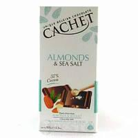 Шоколад Cachet (Кашет) черный 57% какао с миндалем и солью Бельгия 100г