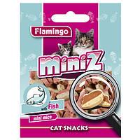 Karlie-Flamingo (Карли-Фламинго) MINIZ MINI MICE МИНИЗ рыба мышка лакомство для кошек в виде мышек со вкусом рыбы