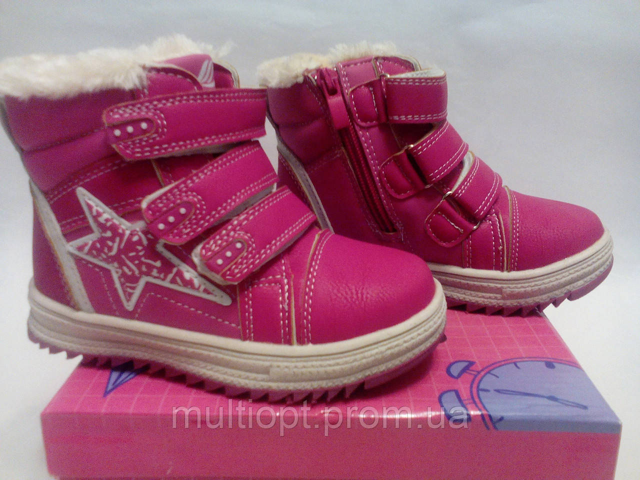 Ботинки детские зимние, утепленные 25-30, ростовка 6 пар. - МультиОпт (MultiOpt) в Луцке