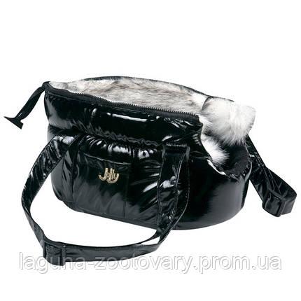Karlie-Flamingo LOLA 25х16х15см утепленная сумка переноска для собак и кошек, черная, регулируемые ручки, фото 2
