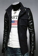 Зимняя черная куртка из кашемира
