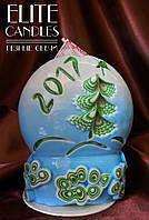 Свеча ручной работы, подарок на новый год, рождество, день рожденья