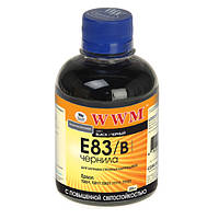Чернила WWM Epson Stylus Photo P50, PX660, T50, TX650/700, R270/290, Black, 200 г, с повышенной светостойкостью (E83/B)