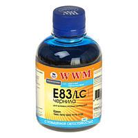 Чернила WWM Epson Stylus Photo P50, PX660, T50, TX650/700, R270/290, Light Cyan, 200 г, с повышенной светостойкостью (E83/LC)