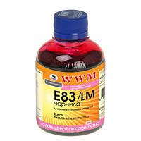 Чернила WWM Epson Stylus Photo P50, PX660, T50, TX650/700, R270/290, Light Magenta, 200 г, с повышенной светостойкостью (E83/LM)