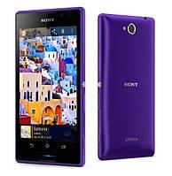 Задняя крышка Sony Xperia C C2304 C2305 S39 S39h фиолетовая