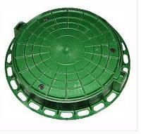Люк полимерный  садовый зеленый