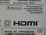Плати від LED TV Philips 47PFH5609/88 (TPN14.1E LA) по блоках, в комплекті (розбита матриця)., фото 2
